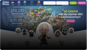 Allt detta på helt nya Casino Heroes 3!