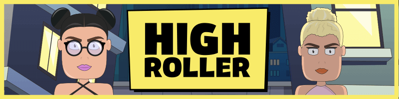 An image of the High Roller Casino banner