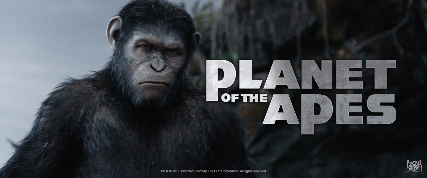 An image of the Planet of the apes banner