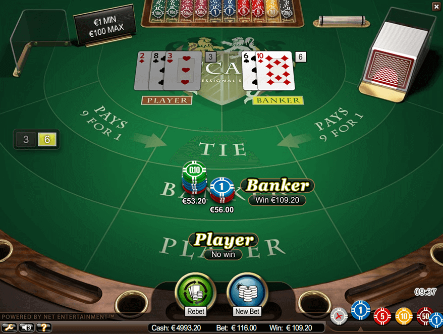 An image of the baccarat board