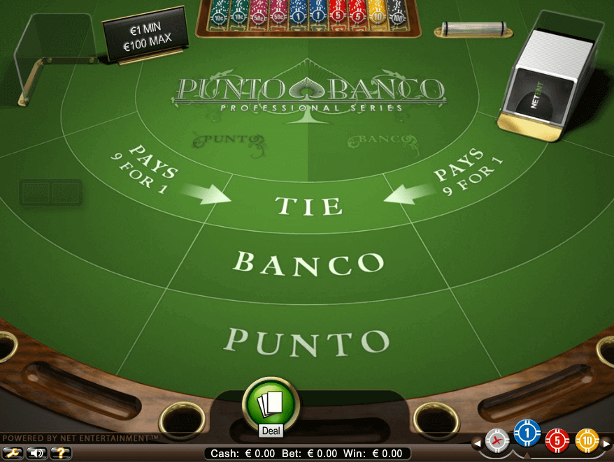 An image of the punto banco board