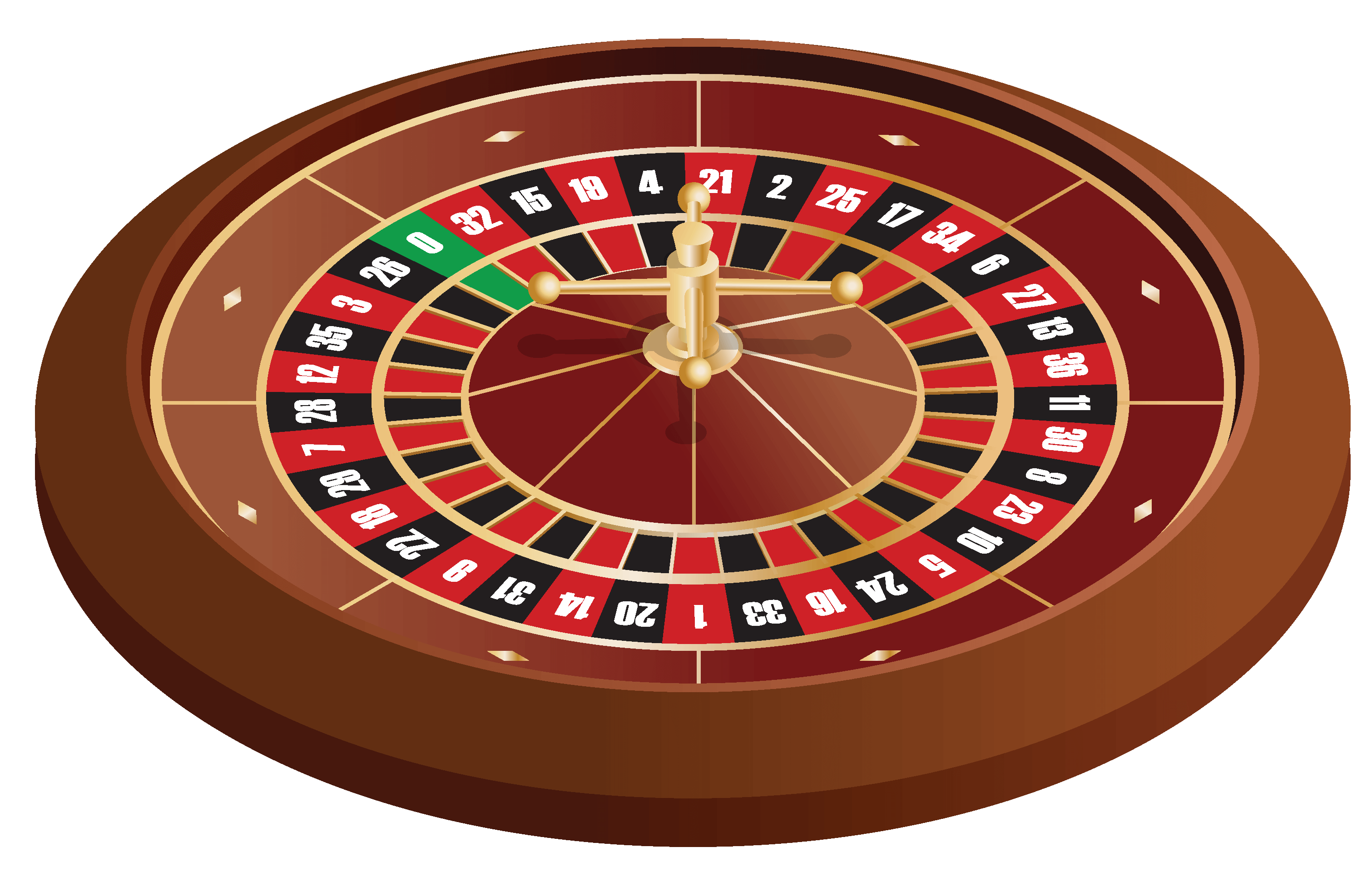An image of the roulette table