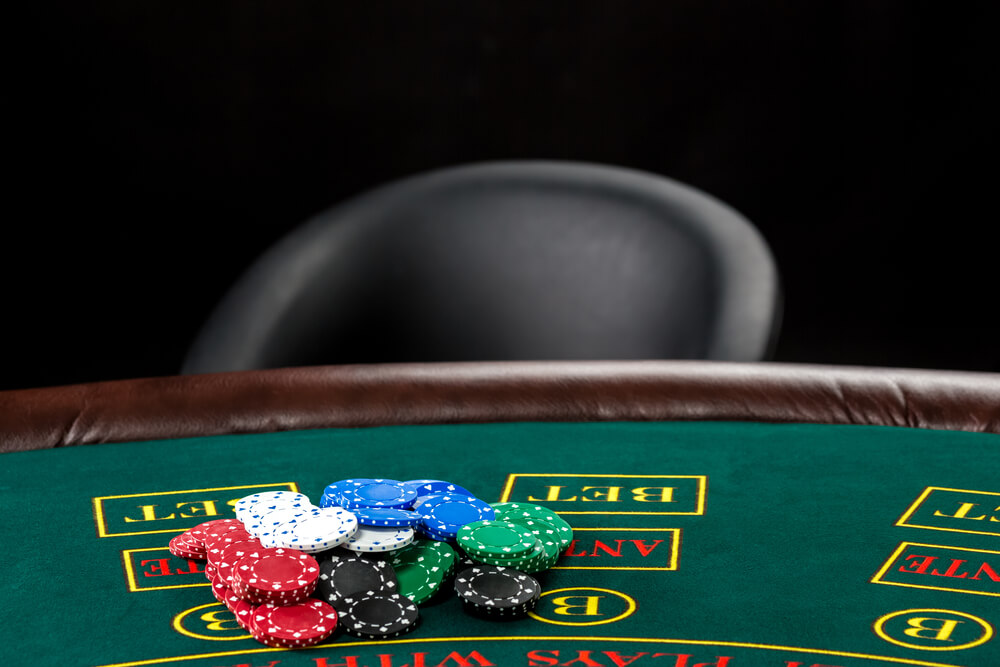 Image of poker table