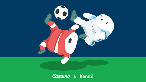 An image of Casumo and Kambi partnering for sports